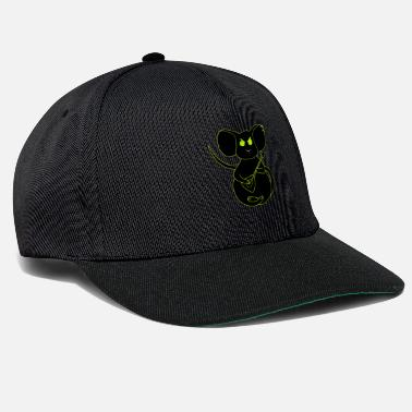 angry rock mouse neon - Snapback Cap