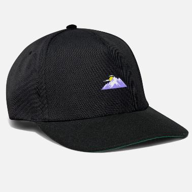 Alps Mountain mountains mountaineering hiking gift - Snapback Cap