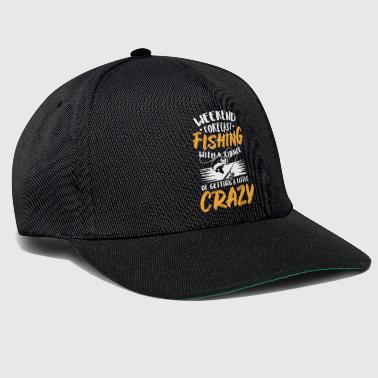 Fishing Beer Weekend Forecast Fishing with A Chance of Getting A Little Crazy - Snapback Cap