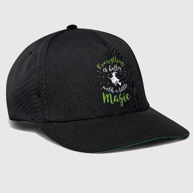 Halloween Shirt Everything Is Better With A Little Magic Gift - Snapback Cap