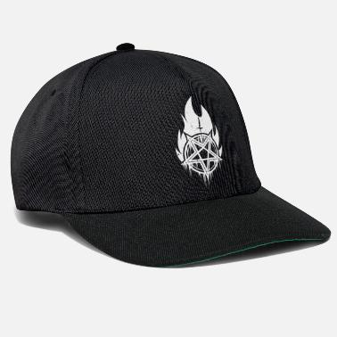 Early Burning black metal pentagram with cross - Snapback Cap
