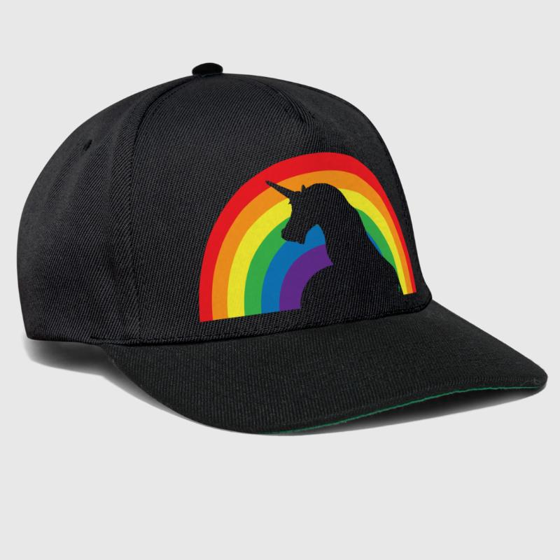 Unicorn and Rainbow - Snapback Cap
