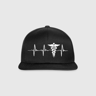 Funny Medical Worker Nurse Hearbeat Gift idea - Snapback Cap
