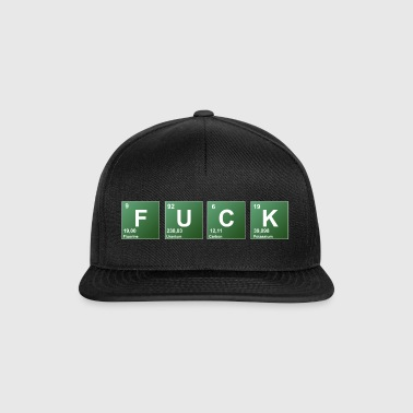 Fuck periodic table of elements word - Snapback Cap