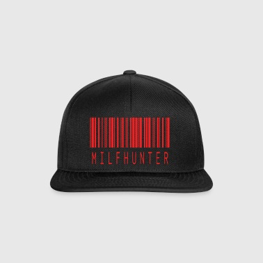 MILFHUNTER BARCODE RED - Snapback Cap