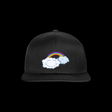 Lucky Day - Clouds With Rainbow - Comic - Snapback Cap