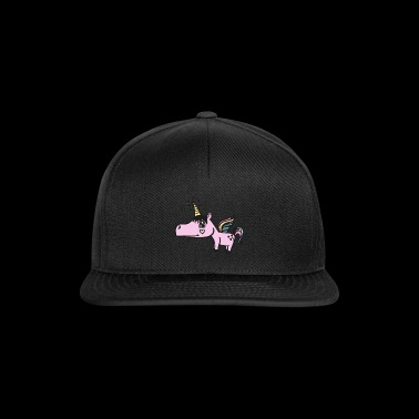 super cute unicorn! Gift unicorn idea - Snapback Cap