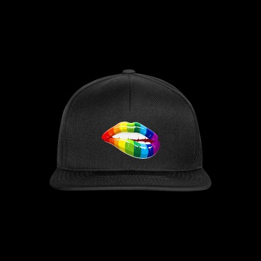 Rainbow Lips - LGBT Homosexuality Love Mouth - Snapbackkeps