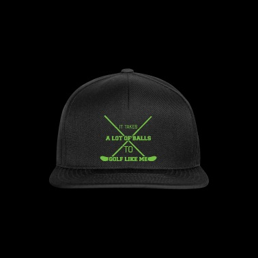 Golf Caddy Golf Course Putter Yardage Gift Tee - Snapback Cap
