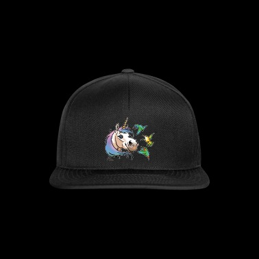 Unicorn and hummingbirds white liseret - Snapback Cap