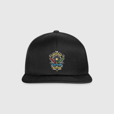 Universe is made of Protons Neutrons Electrons - Snapback Cap