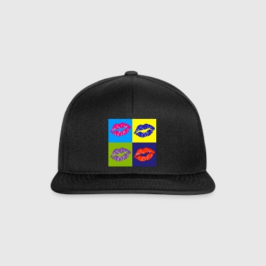 labbro pop art - Snapback Cap