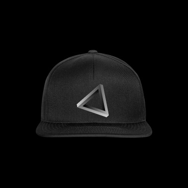 Impossible triangle optical illusion - Snapback Cap