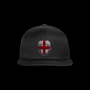 Funny England Flag Ripped Abs Muscles - Snapback Cap