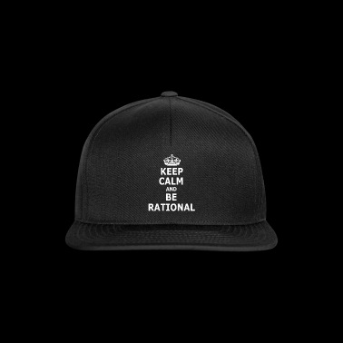 BE RATIONAL shirt - rational and funny idea - Snapback Cap