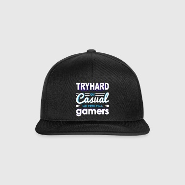 Tryhard or Casual - We Are All Gamers - Snapback Cap