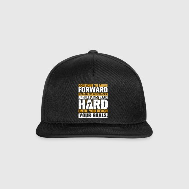 Trening MOVE FORWARD Gym Motivation Bodybuilding - Snapback-caps