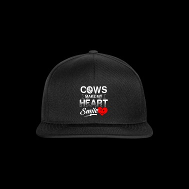 Farmer shirt · farming · cows heart laughing - Snapback Cap