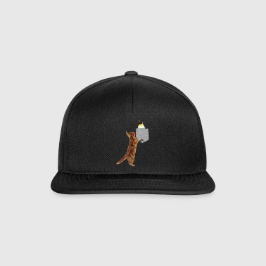 Cat Reach For Penguin In Fake Print-On Lomme - Snapback-caps