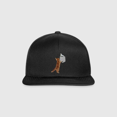 Cat Reaching Tufted Titmouse I Feil Print-On - Snapback-caps