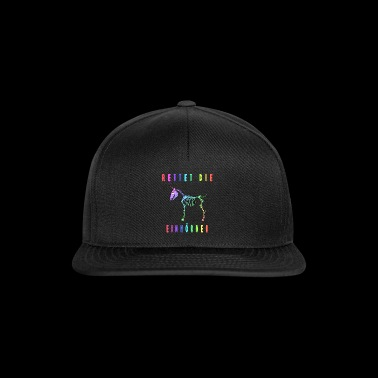 Save the Unicorns - Unicorn - Horse - Comic - Snapback Cap