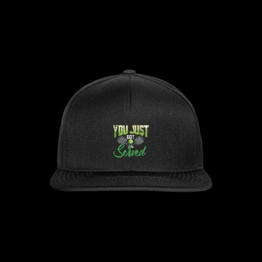 Play tennis sport saying gift ball game - Snapback Cap