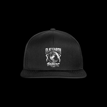 Flat Earth Believer - Flat Earth Gift T-Shirt - Snapback Cap