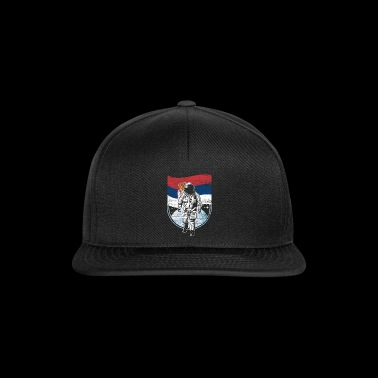 Serbia flag in space Astronaut - Snapback Cap