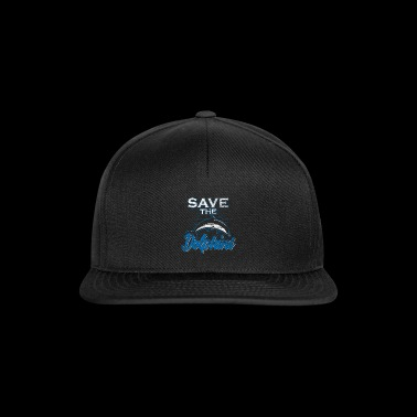 Dolphin Save the Dolphins Gift Ocean Water - Snapback Cap
