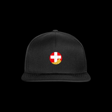 Switzerland with golden Matterhorn - Snapback Cap