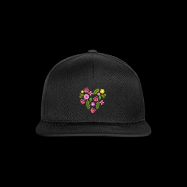 Flowers heart bouquet gift idea - Snapback Cap