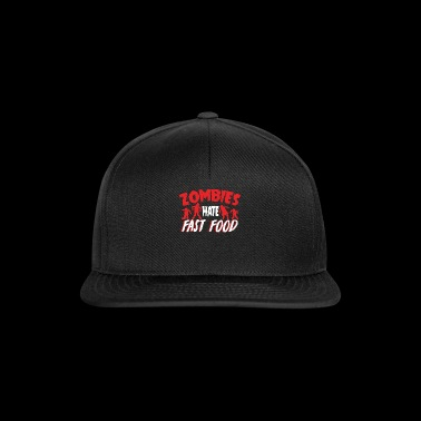 Zombies Hates Fast Food T-Shirt - Snapback Cap