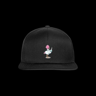 Flamingo kawaii scientist chemistry biology - Snapback Cap