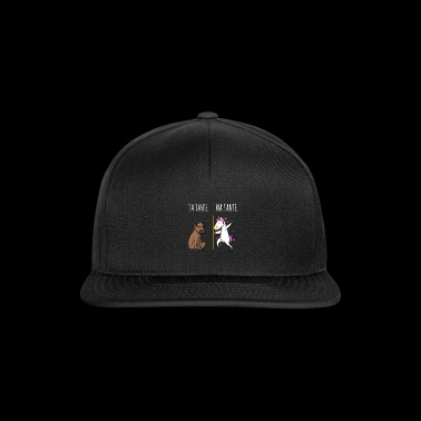 Din moster Min moster Cow Unicorn Gift FR - Snapbackkeps