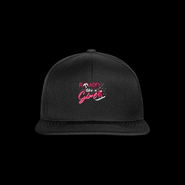 Board Like a Girl T-Shirt with Boarder - Snapback Cap