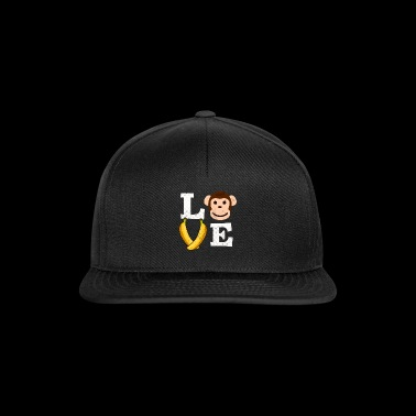 Monkey brown love banana love gift idea - Snapback Cap