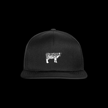 Easily Distracted By Cows T-Shirt Cow Farmer - Snapback Cap