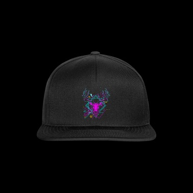 Modern deer head party dancing - Snapback Cap