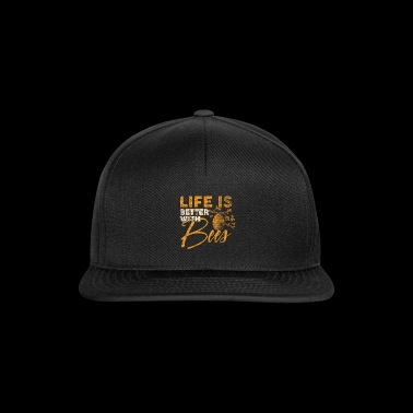 Life is better with Bees bee beekeepers honey - Snapback Cap