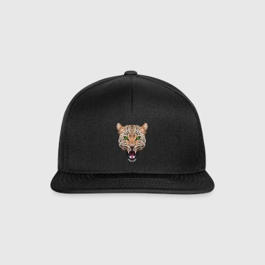 CHAT GEPARD LEOPARD CHAT ANIMAL TÊTE CADEAU CHAT - Casquette snapback