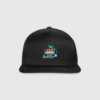 Arbeid Travel Save Repeat - Travel Traveling Gift - Snapback-caps