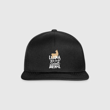 Söpö Llama on My Spirit Animal Funny T paita - Snapback Cap