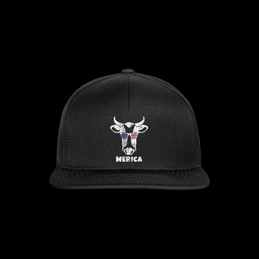Merica Gift Cow Cow America 4th July - Snapback Cap