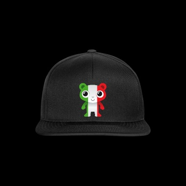 Bear in colors of the Italian flag / coat of arms - Snapback Cap