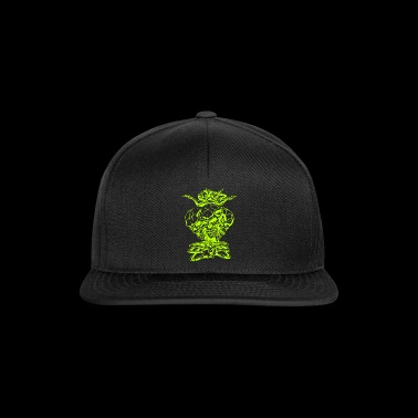 Triple Skull Head med Crown - Snapback-caps