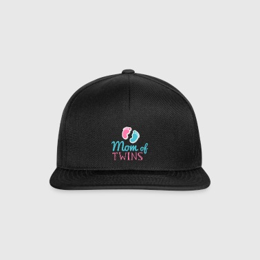 Mom of Twins - Mom Twins Child Baby Pregnant - Snapback Cap