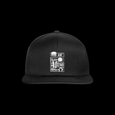 Eat Sleep Electro Repeat - Party Festival Music - Snapback Cap