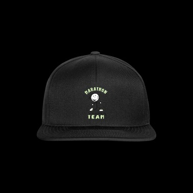Marathon Team - Runner Stick Figure - Snapback Cap