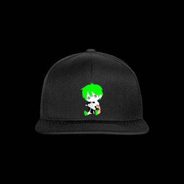 Manga Chibi Kids Design Kind mit Katze Child cat g - Snapback Cap