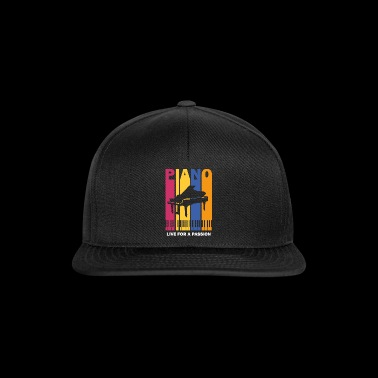live for a passion piano - Snapback Cap